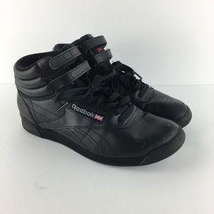 Reebok Black Hi Top Sneakers Size 7.5